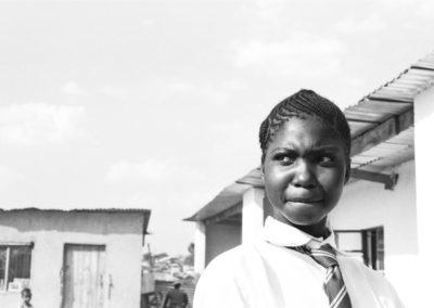 PATRIZIA School Harare, Simbabwe, schwarz-weiß