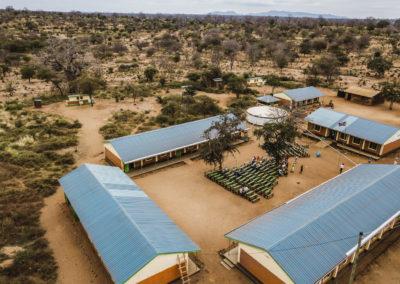 PATRIZIA School Syangeni, Kenia - Gebäude von oben, Drohne