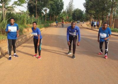 4 Läufer aus Ruanda