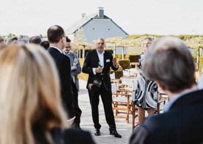 Event PATRIZIA Charity Cooking in Luxembourg mit Deloitte und Clifford Chance 2019 - Begrüßung und Aperitiv