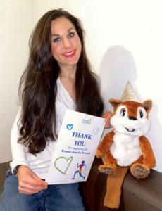 Christina Lutz - Dankesurkunde