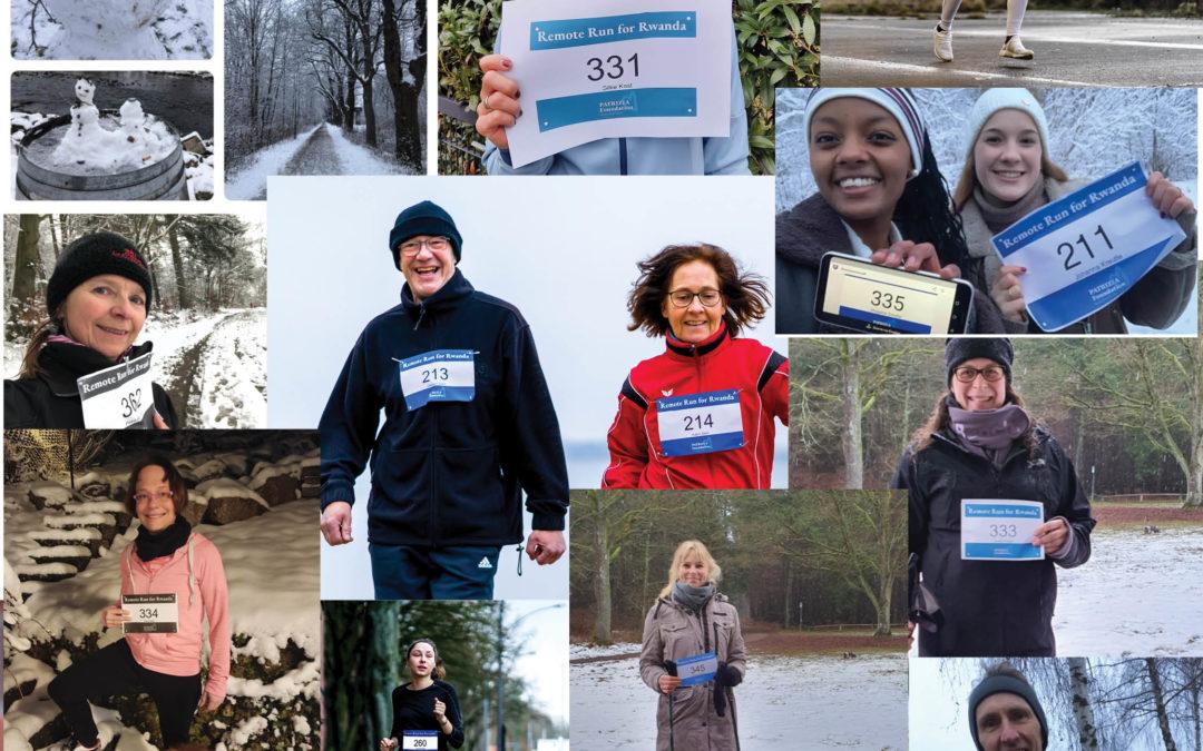 Mehr als 600 Teilnehmer beim Remote Run for Rwanda