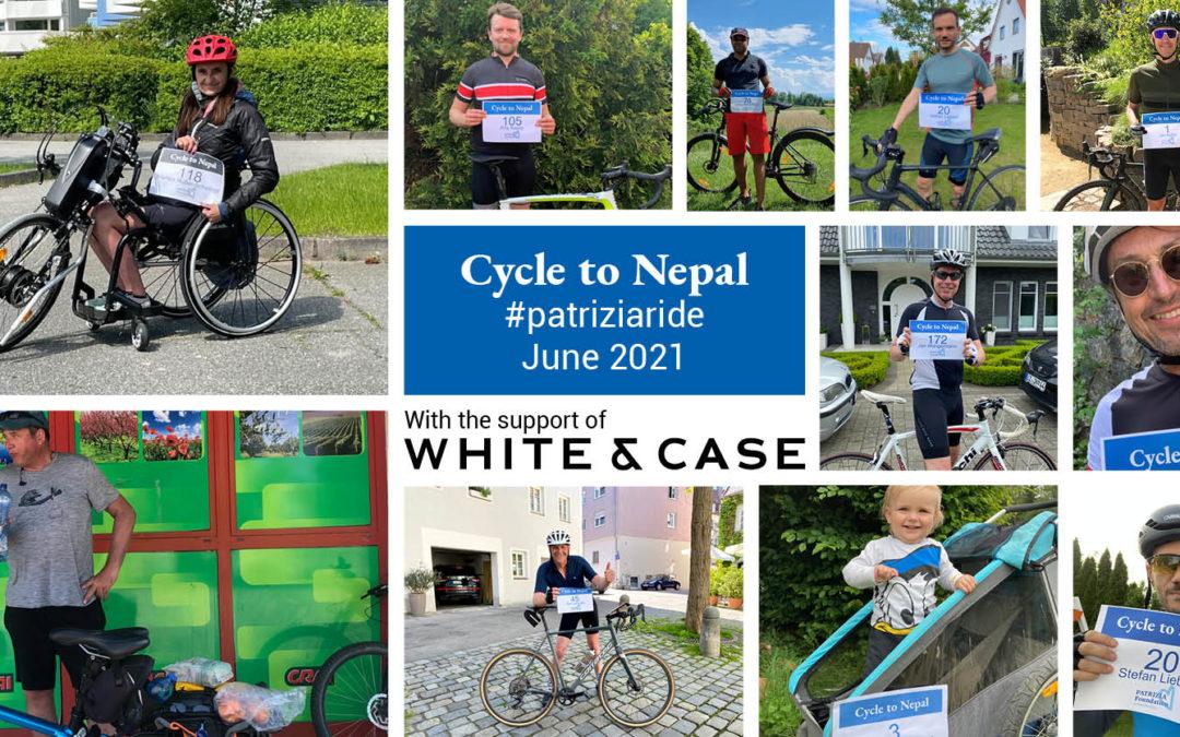 234 Teilnehmer radeln beim #patriziaride virtuell von Augsburg nach Nepal: drei Mal hin und zurück!