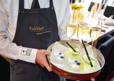 Event PATRIZIA Charity Cooking 2019 in Frankfurt mit Norton Rose Fulbright -  Aperitiv, Meyer Kochwerk