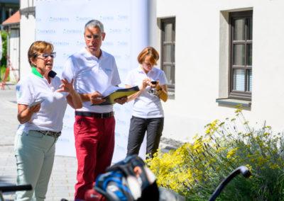 Event 7. PATRIZIA Charity Golf Cup 2019, Frankfurt Hof Hausen vor der Sonne - Begrüßungsansprache Sissy de Mas und Alexander Busl