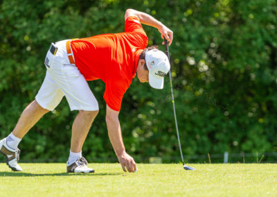 Event 7. PATRIZIA Charity Golf Cup 2019, Frankfurt Hof Hausen vor der Sonne - Golfer vor dem Abschlag