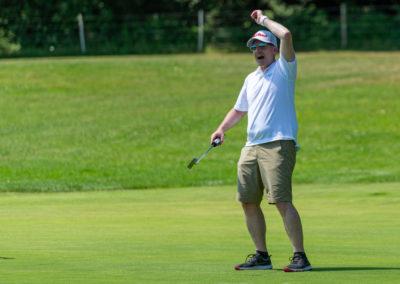 Event 7. PATRIZIA Charity Golf Cup 2019, Frankfurt Hof Hausen vor der Sonne - Golfer freut sich