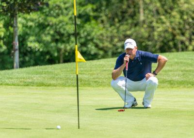Event 7. PATRIZIA Charity Golf Cup 2019, Frankfurt Hof Hausen vor der Sonne - Christoph Langmack vor Fahne