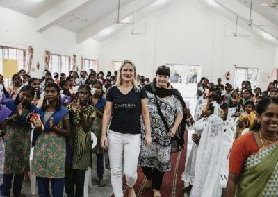 PATRIZIA Child Care Porayar, Indien - Sabine Schillinger-Köhne im PCF Tshirt