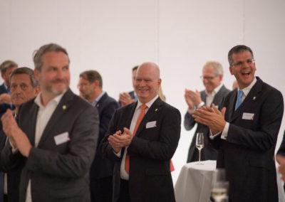 Event PATRIZIA PreOpening HVV in Augsburg - Präsentation Applaus