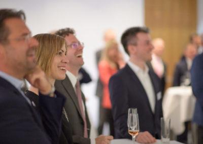 Event PATRIZIA PreOpening HVV in Augsburg - Gäste bei Begrüßung